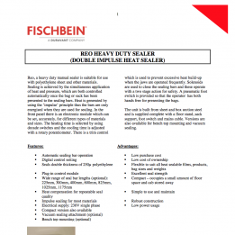 Fischbein REO brochure PDF (english)