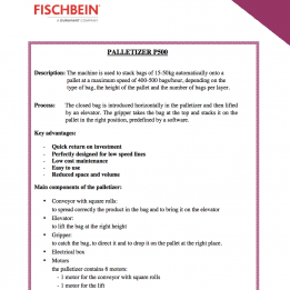 Fischbein brochure palletizer