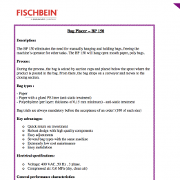 Fischbein brochure bag placer 150